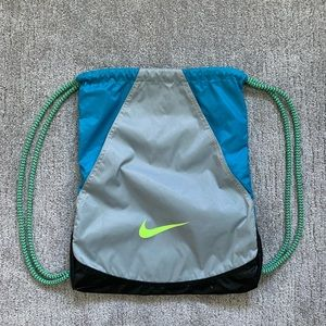 Blue Nike Drawstring Backpack